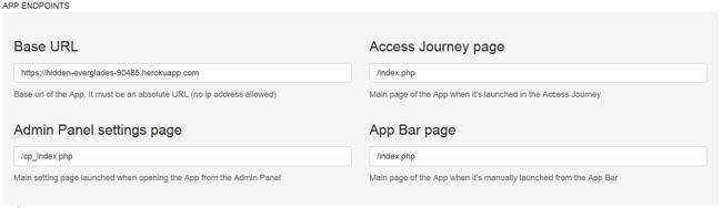 App Endpoints